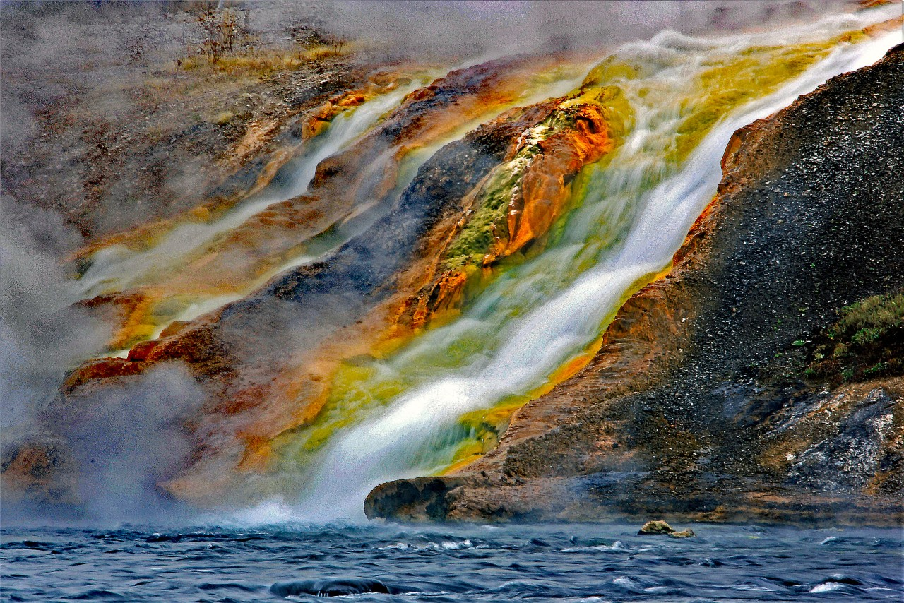 Excelsior Geyser Firehole River 1 copy