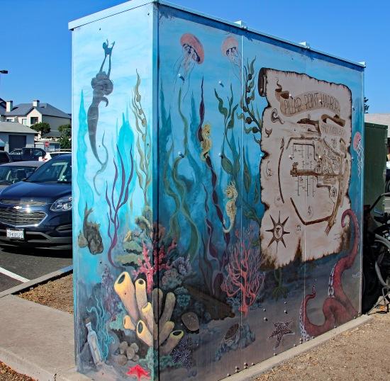 Local art on a municipal utility box