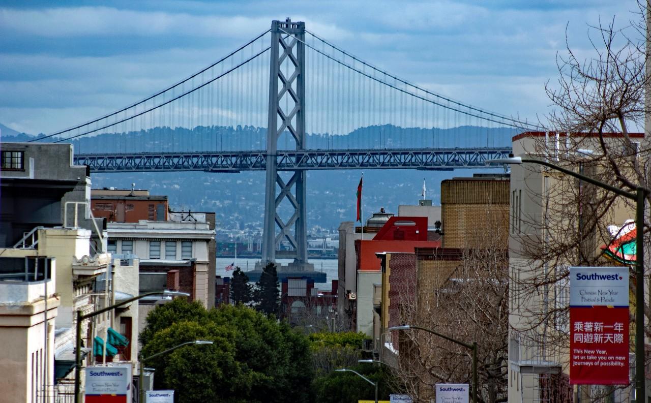 Bay Bridge from Chinatown