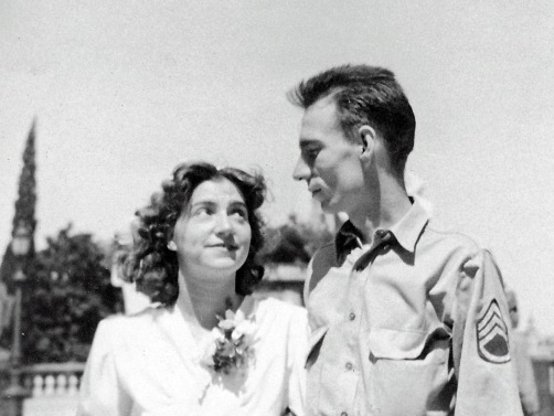 Richard and Livia Anderson June 1945 wedding