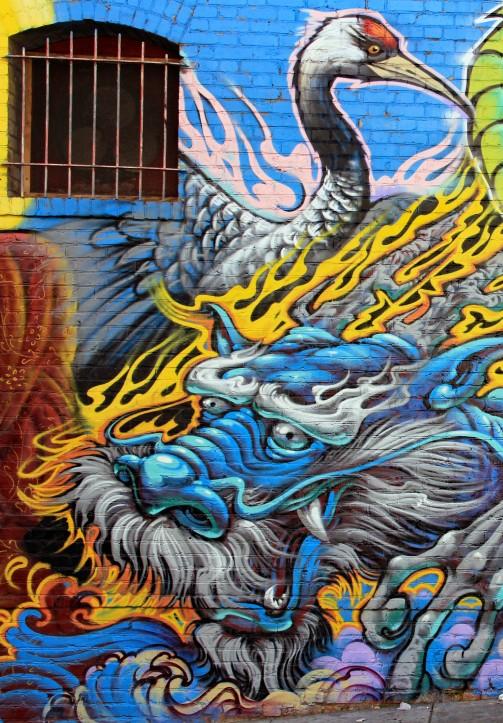 Dragon and bird